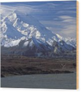 Mt. Mckinley And Lenticular Clouds Wood Print