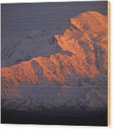 Mt. Mckinley Sunset Wood Print
