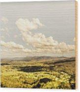 Mt Mee Vintage Landscape Wood Print