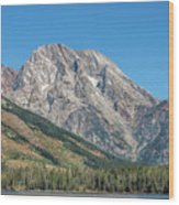 Mt Moran At The Grand Tetons Wood Print