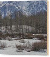 Mt Moran From Cattleman's Bridge Site Wood Print