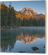 Mt. Moran From String Lake Wood Print