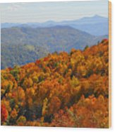 Mt. Pisgah From Crabtree Bald Wood Print