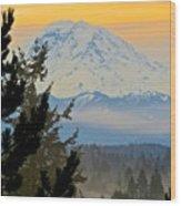 Mt. Rainier #1 Wood Print