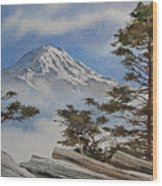 Mt. Rainier Landscape Wood Print