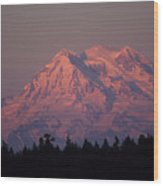 Mt. Rainier Washington Wood Print by Robert  Torkomian