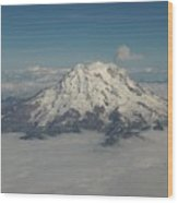 Mt Ranier Wood Print