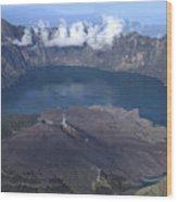 Mt Rinjani Wood Print