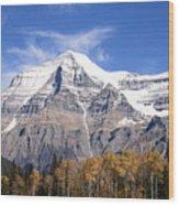 Mt. Robson- Canada's Tallest Peak Wood Print