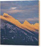 Mt Rundle Sunset Banff Wood Print