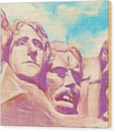 Mt Rushmore Wood Print