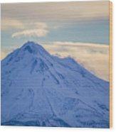 Mt. Shasta Snow Drifts Wood Print