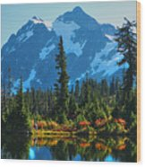 Mt. Shuksan Wood Print