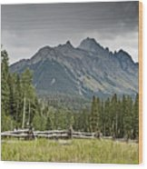 Mt Sneffels In The Colorado Rocky Mountains Wood Print