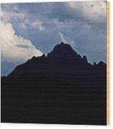 Mt. Sneffels Silhouette Colorado Wood Print