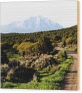 Mt. Sopris - A Colorado Landscape Wood Print