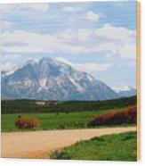 Mt. Sopris II - A Colorado Landscape Wood Print