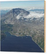 Mt. St. Helens Aerial 2225 Wood Print