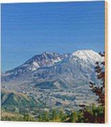Mt St Helens Wood Print