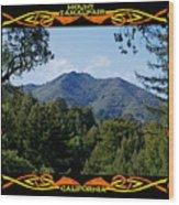 Mt Tamalpais Framed 1 Wood Print
