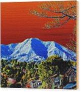 Mt Tamalpais From Another World Wood Print