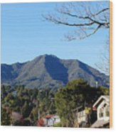 Mt Tamalpais View From Mill Valley Wood Print