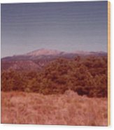 Mt Taylor In New Mexico  Wood Print