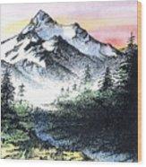Mt Thielson Oregon Wood Print