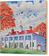 Mt. Vernon East Front In Fall Wood Print