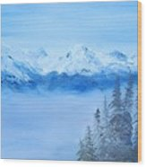 Mt. Whistler Canada  Wood Print
