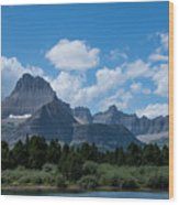 Mt Wilbur In Glacier National Park Wood Print