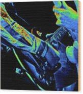Mtb77#79 Enhanced In Cosmicolors Crop 2 Wood Print