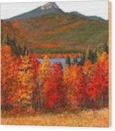 Mt.chocorua Wood Print