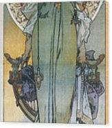 Mucha: Theatrical Poster Wood Print