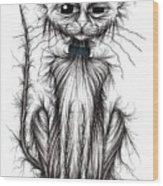Mucky Cat Wood Print