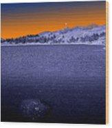 Mucubaji Lake Wood Print
