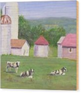 Mud Lake Dairy Farm Wood Print