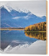 Mudd Lake Reflections Wood Print