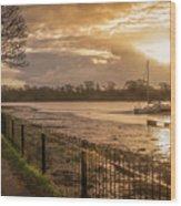 Muddy Creek At Fareham, Hampshire, England Wood Print