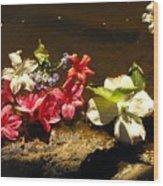 Muddy Flowers  Wood Print