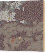 Muddy Footprints Over A Carpet Wood Print