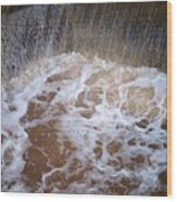 Muddy Waterfall Wood Print