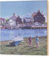 Mudeford Quay Christchurch From Hengistbury Head Wood Print
