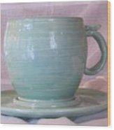 Mug And Saucer Wood Print