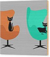 Mug Design With Egg Chairs Wood Print