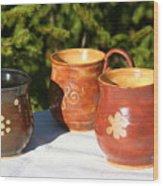 Mugs Wood Print