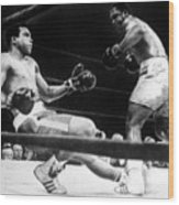 Muhammad Ali Knocked Down By Joe Wood Print by Everett