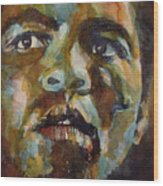 Muhammad Ali   Wood Print by Paul Lovering