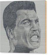 Muhammad Ali Wood Print by Stephen Sookoo