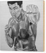 Muhammad Ali Wood Print